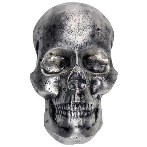 silver skull buy 10 oz mk barz poured silver skulls silver