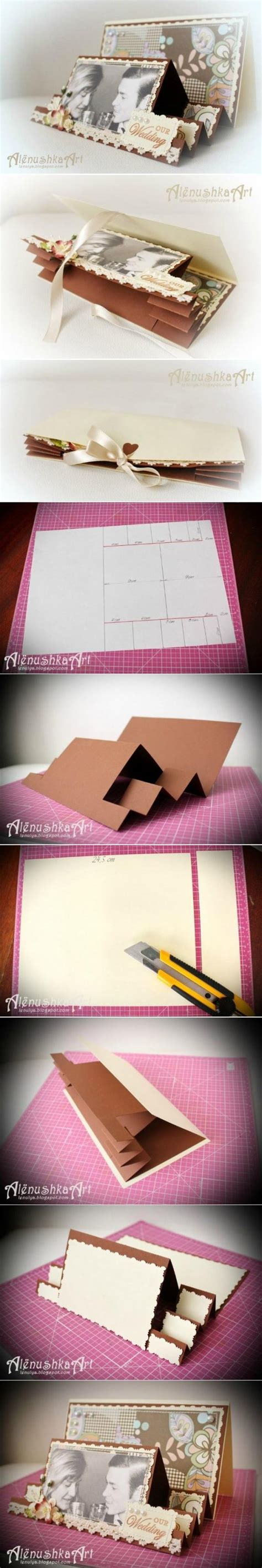 how to make a 3d card how to make 3d wedding card step by step diy tutorial