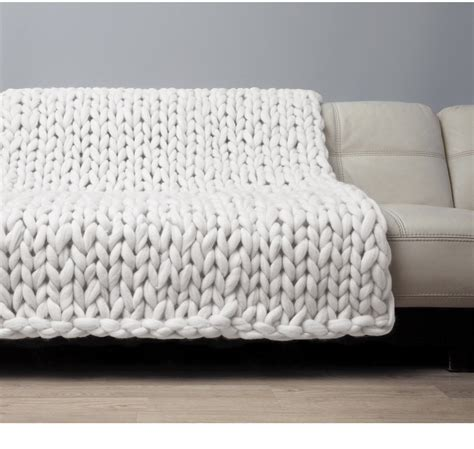 how to knit a large blanket chunky blanket knitted merino wool throw big