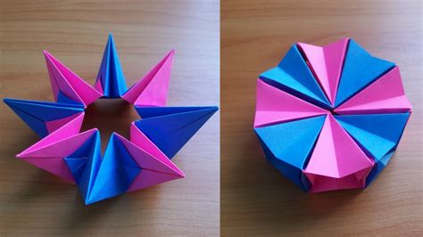 origami magic easy diy how to fold an easy origami magic circle fireworks