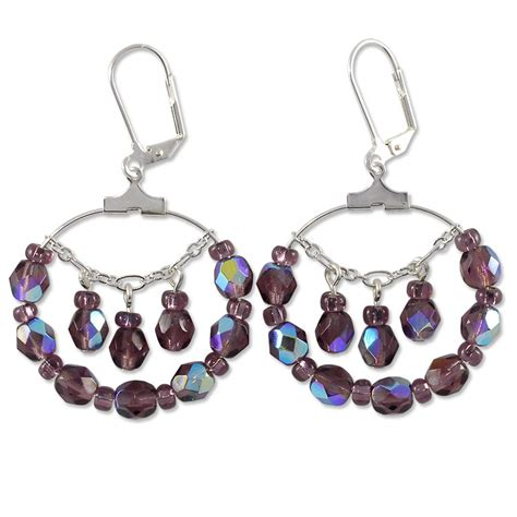 jewelry projects darkwater earring project beaded hoop jewelry project