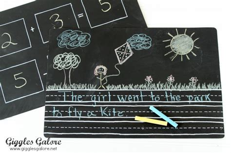 diy chalkboard placemats diy chalkboard placemats back to school hop with 10
