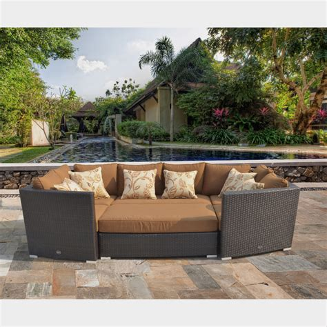 sirio outdoor furniture batavia 6 outdoor furniture set with 6 pillows by