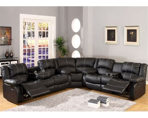 reclining sofa set mcf furniture black sectional reclining sofa set mcfsf3591