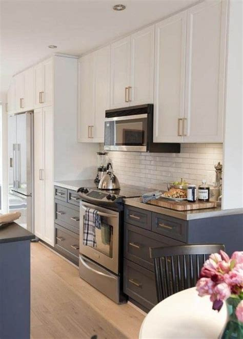 creative ideas for kitchen cabinets black and white kitchen cabinet painting ideas 600x839