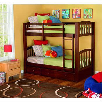 living home barrington size bunk bed with trundle bed