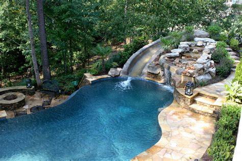 backyard cave pool with slide waterfall grotto cave vance dover flickr