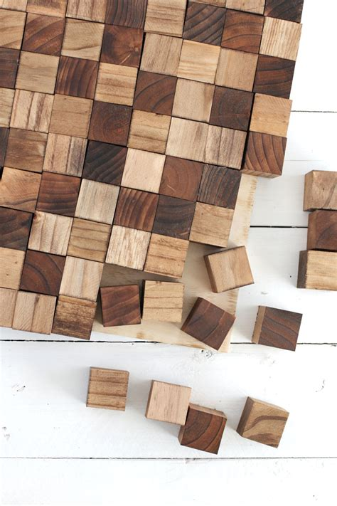 decorative woodwork supply create a wooden mosaic wall with simple supplies you