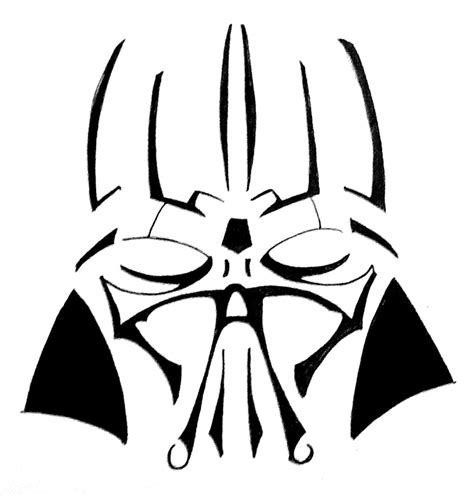 vader tribal tattoo design by tophoid on deviantart