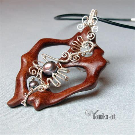 jewelry journal wood bone and wire wrapped jewelry by yannikoart the
