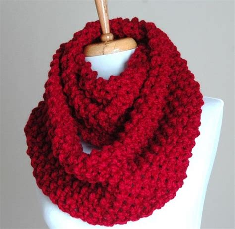 chunky knit infinity scarf pattern infinity scarf cranberry knit chunky textured
