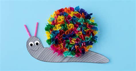 craft tissue paper tissue paper snail craft