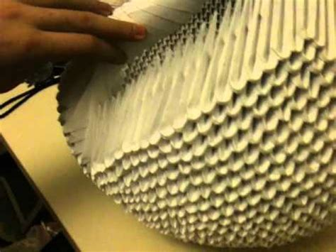 how to make a big origami origami big swan 3d
