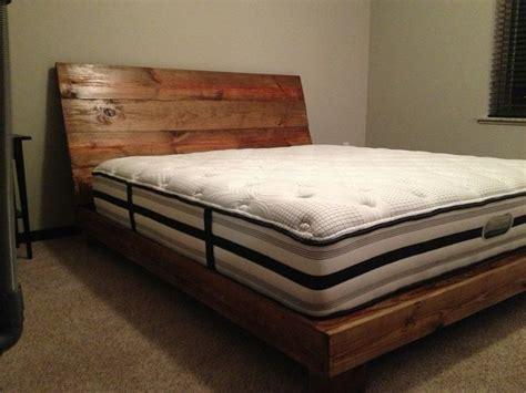 diy wood bed frame reclaimed wood bed frame diy 187 woodworktips