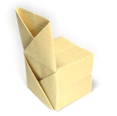 how to make an origami chair how to make origami chair