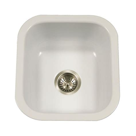 porcelain kitchen sinks undermount houzer porcela series undermount porcelain enamel steel 16
