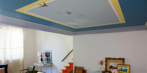 paint color for ceiling learn how to paint an accent pattern on your ceiling how
