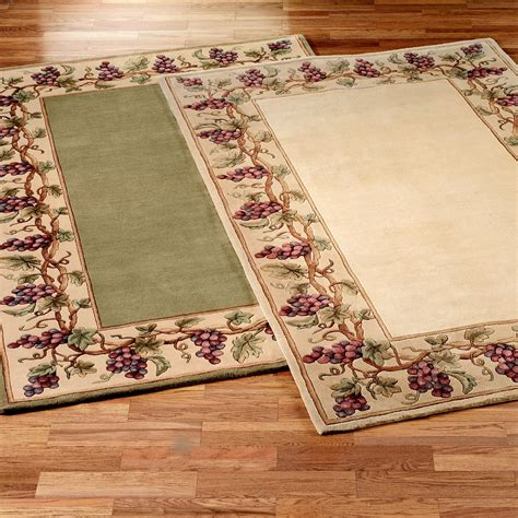 area kitchen rugs grapes napa border area rugs