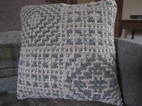 mosaic knitting patterns mosaic cushion knitting pattern by wallin knitting