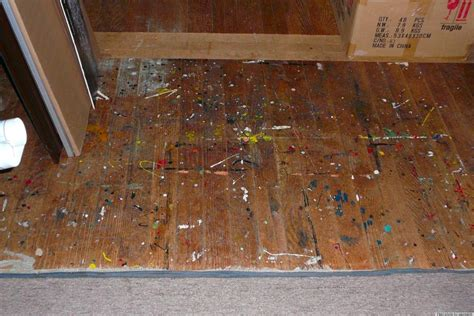 how to remove paint from woodwork remove paint from floor with wipes huffpost