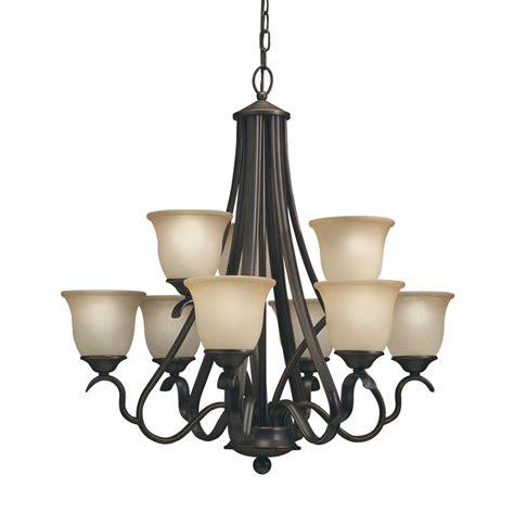 lowes chandelier shop portfolio danrich marina 9 light black bronze with