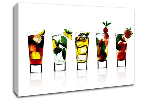 Wall Murals For Bathrooms cocktail party kitchen canvas stretched canvas