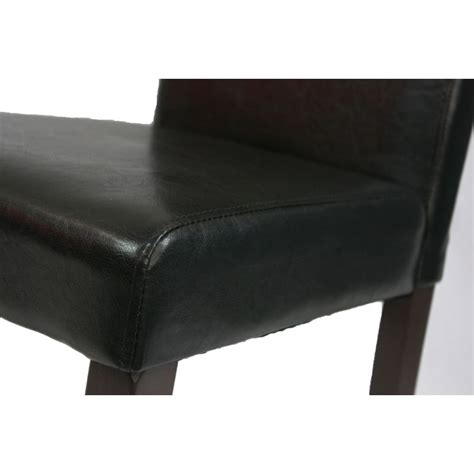 black faux leather dining room chairs 2 black faux leather high back dining room chairs buy