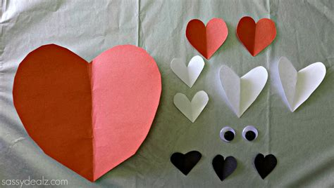 paper hearts craft paper fox craft for crafty morning