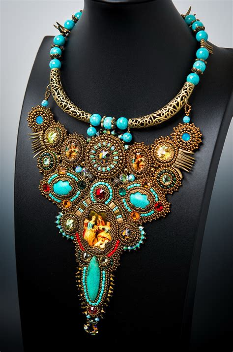 jewelry bead beautiful bead embroidered jewelry by guzialia reed