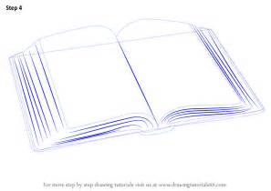 how to draw book learn how to draw an open book everyday objects step by