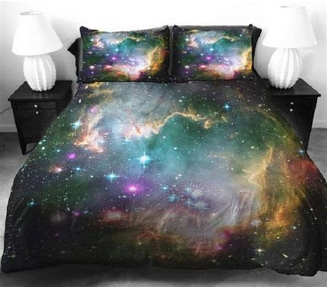 space comforter set celestial galaxy bedsheets space bedding