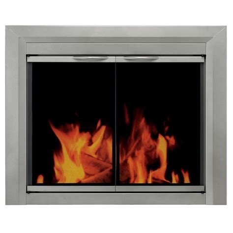 fireplace glass shop pleasant hearth colby sunlight nickel small cabinet