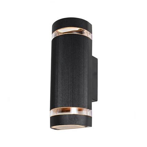 garden wall lights holme large up black outdoor wall light from