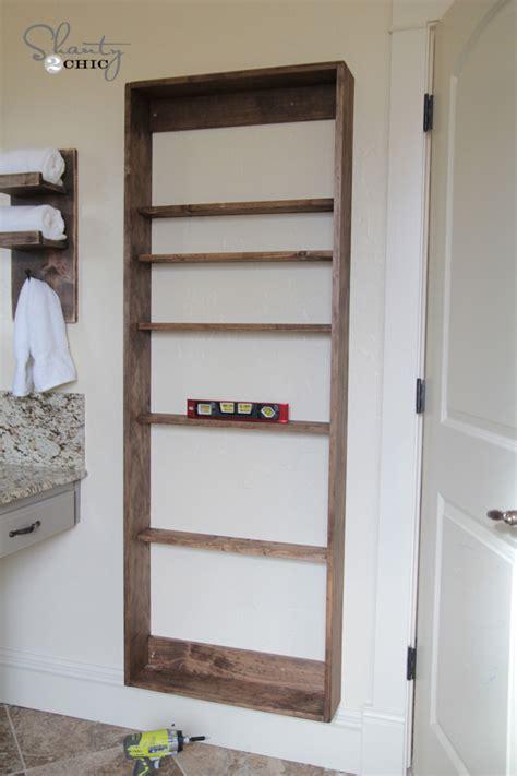 Storage Ideas For Tiny Bathrooms diy bathroom mirror storage case shanty 2 chic