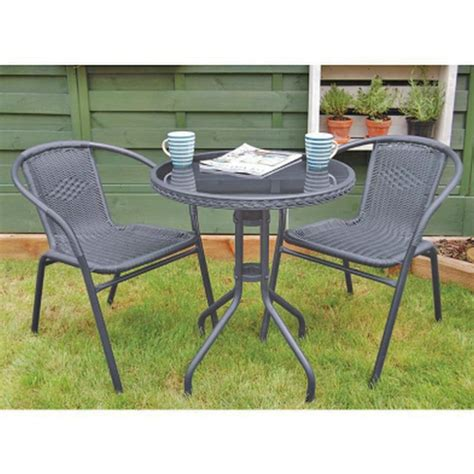 gray patio furniture sets charcoal grey rattan bistro set 3 garden furniture set outdoor furniture ebay