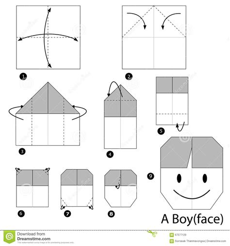 how to make an origami boy step by step how to make origami a boy stock