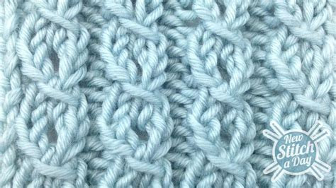 how to knit ribbing in the the eyelet mock cable ribbing stitch knitting stitch 82