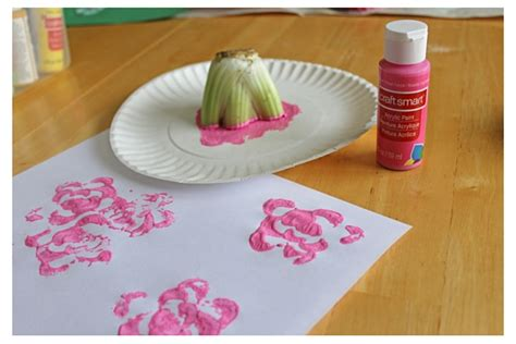 flour crafts for kitchen crafts diy flour paint and veggie sts for