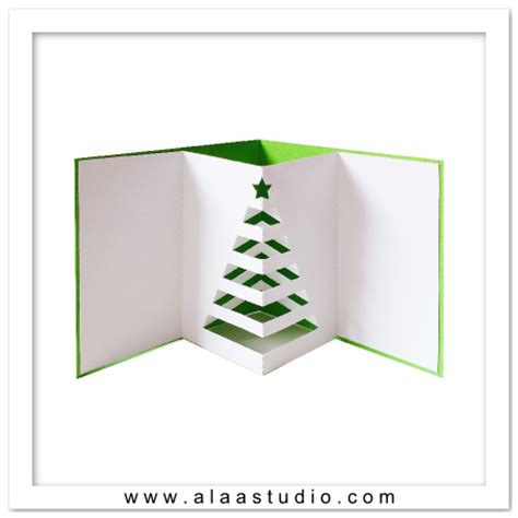 pop out tree card pop up cards