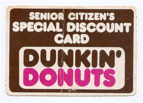 how to make senior citizen card vintage senior citizen s discount card dunkin donuts