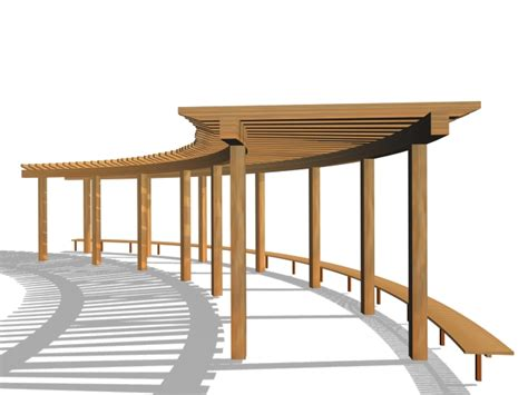 pergola with bench wood pergola with bench 3d model 3ds max files free