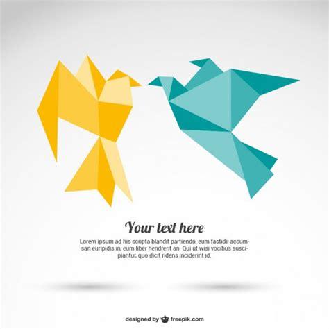 paper birds origami оригами бумажные птицы вектор скачать вектор