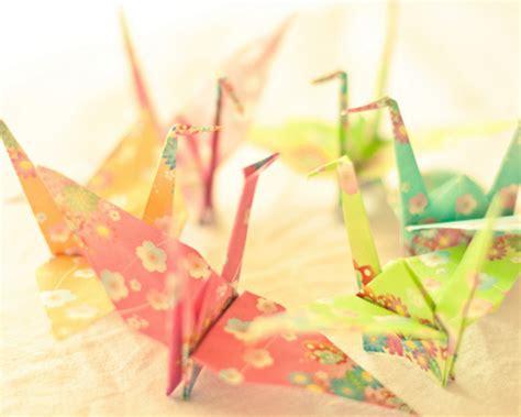 pretty origami paper crane floral origami paper paper crane image 195099