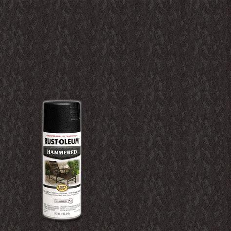 home depot spray paint black rust oleum stops rust 12 oz protective enamel hammered