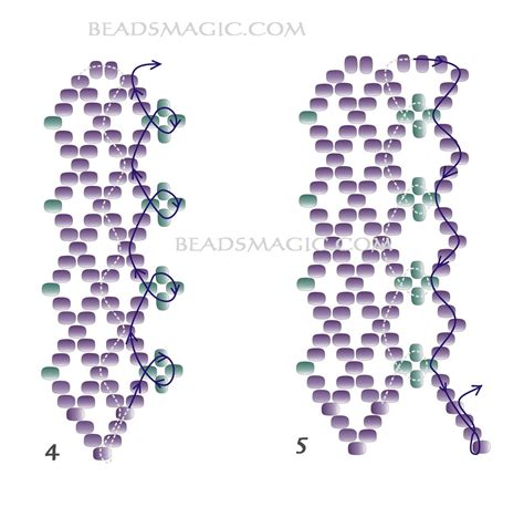 2 bead patterns free pattern for necklace beatrice magic