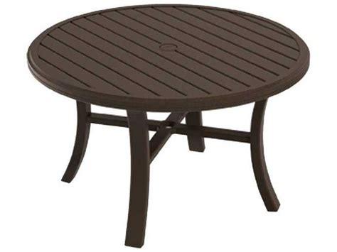 tropitone patio table tropitone banchetto aluminum 42 chat table 401186