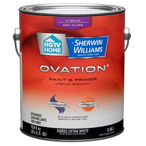 glow in the paint sherwin williams shop hgtv home by sherwin williams ovation white semi