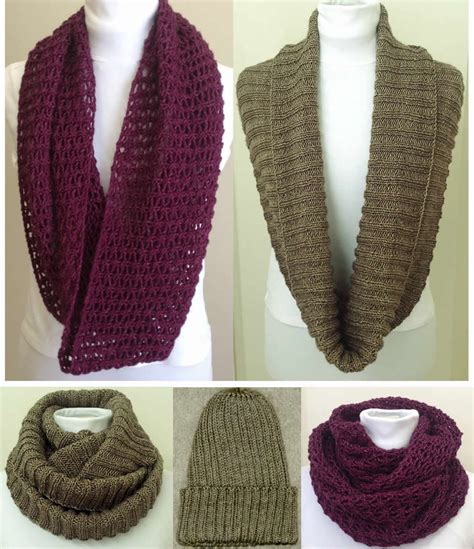 free infinity scarf knitting pattern hat and scarf knitting patterns for all sizes