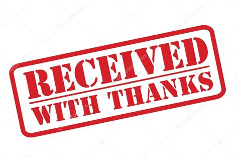 rubber thank you st received with thanks rubber st vector a white