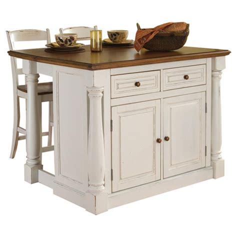 kitchen island set home styles monarch 3 kitchen island set reviews